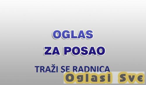 Potrebna radnica za rad u poslasticarnici na Zelenom Vencu - Beograd