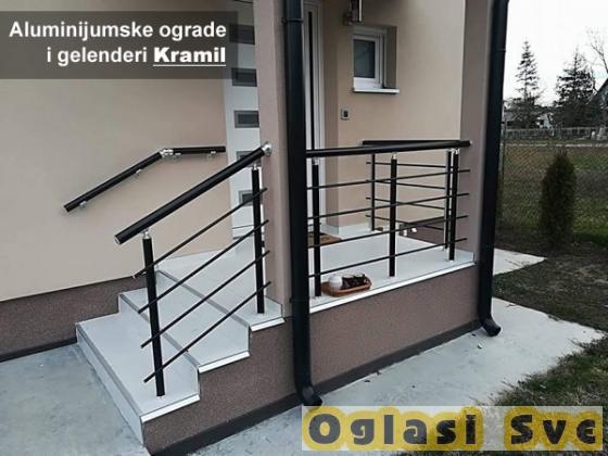 Aluminijumske OGRADE Kapije Gelenderi... Kramil