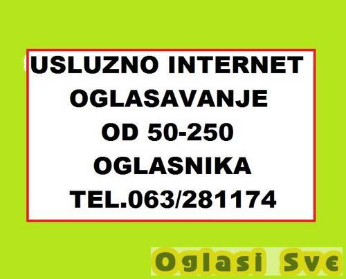 Usluzno internet oglasavanje na 50-100-150-200-250 oglasnika