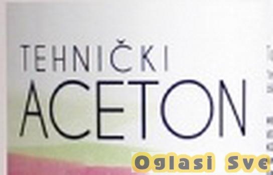 Aceton tehnički u refuzu, količina 35 litra