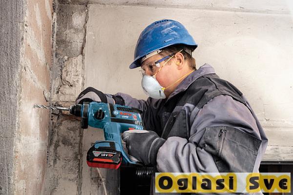 Bušenje rupa u betonu, štemovanje