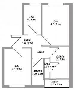 Trosoban stan (63m), uknjižen, Zemun, Alaska - bez posrednika