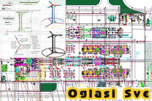 Crtam u AutoCad-u u 2D i 3D sve tehničke nacrte, kao i logoe i ostalo