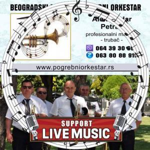 Muzika trubači pogrebni orkestar za sahrane Srbija